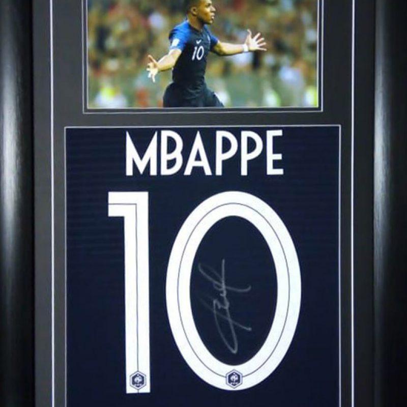 61b1abc58 Kylian Mbappe   Signed No 10 France Shirt (Back)