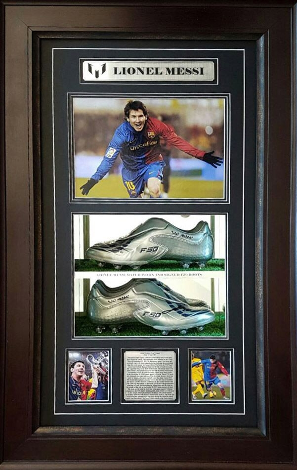 Lionel Messi: match used/worn and match won(2-1) signed F50 boots