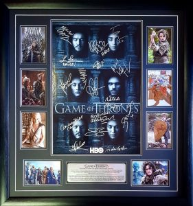 Game of Thrones: cast signed poster (incl photo proof)