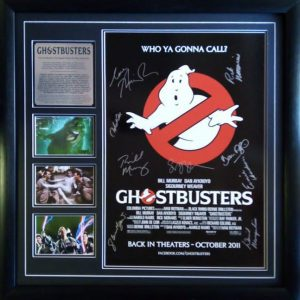 Ghostbusters: cast signed poster (incl Photo proof)