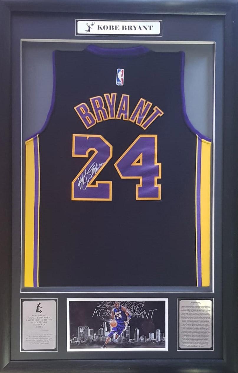meet 86f09 0cbeb Kobe Bryant: Signed and inscribed Lakers Ltd Edition Black Mamba No 24  Jersey