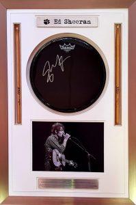 Ed Sheeran Signed Drum Head