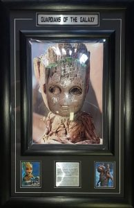 Guardians of the Galaxy: Cast signed Baby Groot mask