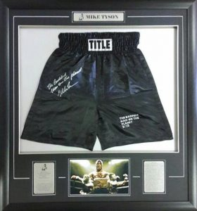 Mike Tyson: Limited Edition signed trunks