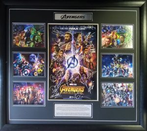Avengers: Infinity War Cast signed poster
