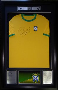 Pele: Rare signed Brazil shirt