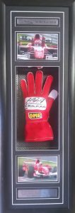 Michael Schumacher: Signed and inscribed glove (rare)
