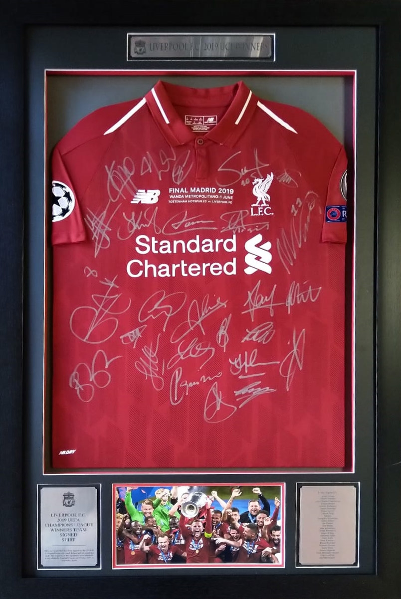 pretty nice bec54 120bc Liverpool UCL 2019 Winners Team Signed Shirt