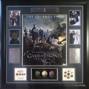 Game of Thrones: Season 8 cast signed poster incl
