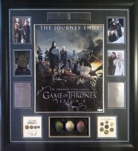 Game of Thrones Season 8 Cast Signed Poster