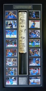 India ICC 2011 World Cup Winners Signed Cricket Bat