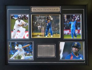 Sachin Tendulkar Signed Cricket Photo
