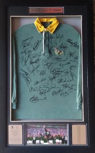 1995 Rugby World Cup Winners Team Signed Jersey