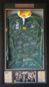 2007 Rugby World Cup Winners Team Signed Jersey