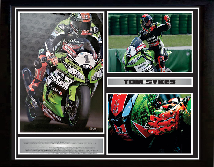 Tom Sykes Signed MotoGP Original Magazine Insert with Inscription