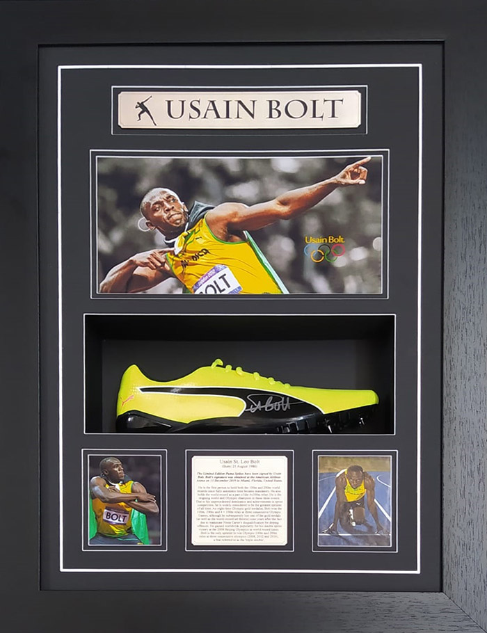 Usain Bolt Limited Edition Signed Puma Spikes