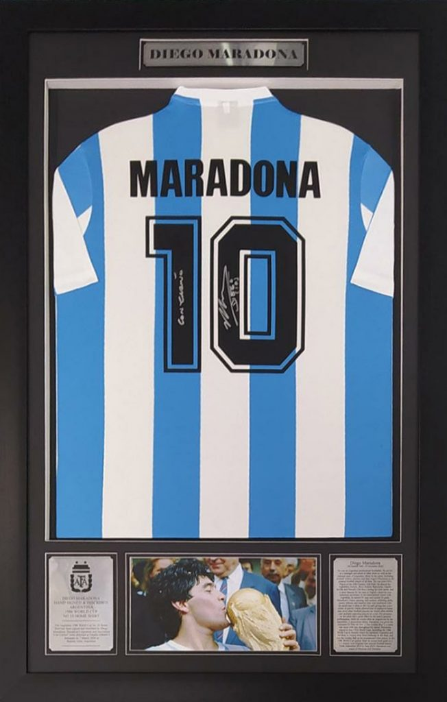 Diego Maradona: Signed and Inscribed Argentina Number 10 Shirt